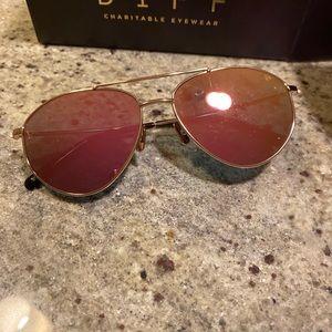 Diff Eyewear- Scout Gold/Pink Mirror